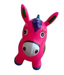 Pink Bouncy Horse for Kids, L&H Kid's Inflatable Horse