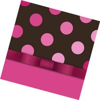Pink and Chocolate Luncheon Napkin