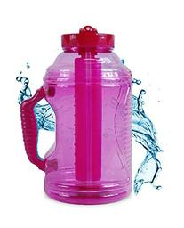 Cool Gear 75 oz EZ Freeze Water Bottle w/ Handle Straw and