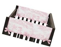 Pink French Toile Teething Protector Cover Wrap Baby Girls