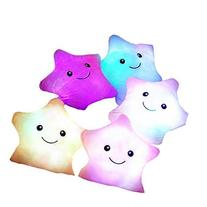 Pink Glowing Colorful Luminous LED Star Plush Pillow Stuffed