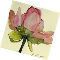 Pink Lotus, Giclee Print from Watercolor Flower Painting, 9