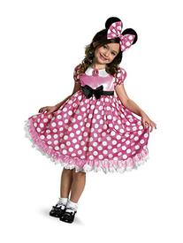 Pink Minnie Mouse Glow-in-the-Dark Dot Dress Costume - X-