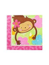 Amscan Sweet Monkey Love Birthday Party Lunch Napkins