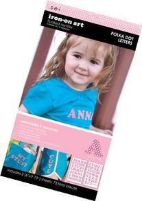SEI 1-Inch Pink Polka Dot Letter Transfers, 2-Sheet