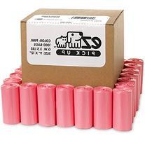 Pink Poop Bags - 1000 Count Dog Waste Bags, Cat Litter Bags