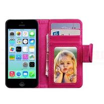 MobilePick® Hot Pink PU Leather Magnetic Flip Wallet Stand