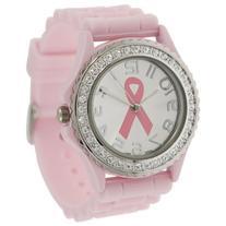 Pink Ribbon Geneva Crystal Rhinestone Breast Cancer
