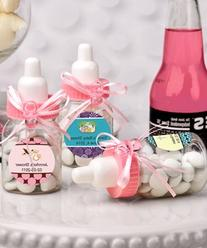 Charmed Baby Bottle Shower Favor,3-Inches, Pink