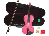 GRACE 12 inch Pink Student Viola with Case, Bow+2 Sets