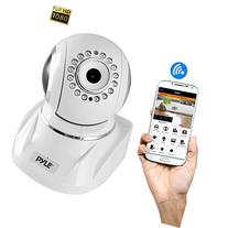 Pyle Indoor Wireless IP Camera - HD 1080p Network Security Surveillance Home Monitor System - Motion Detection, Night Vision, PTZ, 2 Way Audio, iPhone