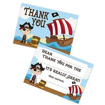 Pirate Birthday Kids Fill In Thank You Cards for Boys