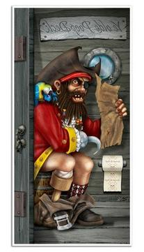 Pirate Captain Restroom Door Cover Party Accessory