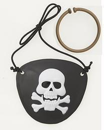 Pirate Eye Patch & Earring Set 2ct
