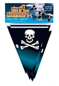 Loftus International Pirate Pennant Flag Banner, Black, 25