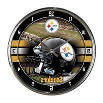 Nfl Football Team Chrome Wall Clock , Pittsburgh Steelers ,