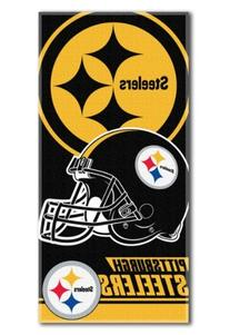 NFL Pittsburgh Steelers Double Covered Beach Towel, 28 x 58-