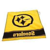 "NFL Pittsburgh Steelers 16"" x 19"" Gold Woven Jacquard Golf"