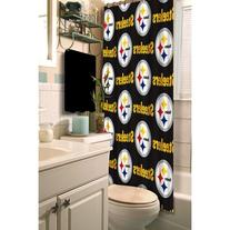 Pittsburgh Steelers NFL Fabric Shower Curtain