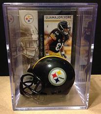 Pittsburgh Steelers NFL Helmet Shadowbox w/ Troy Polamalu