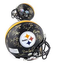 Pittsburgh Steelers Super Bowl XL and XLIII Signed Helmet -