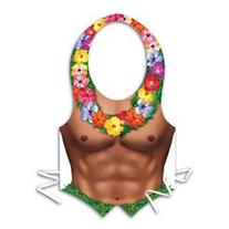 Pkgd Plastic Hula Hunk Vest Party Accessory