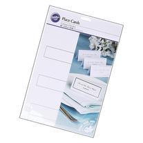 Place Cards 60/Pkg-Silver Border