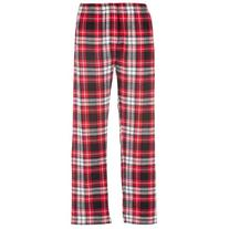 Boxercraft Red & Black Plaid Flannel Pant Button Close-Fly