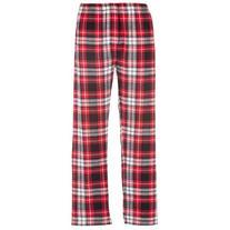 Boxercraft Red & Black Plaid Flannel Pant Button Close-Fly