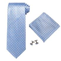 Landisun SILK Plaids & Checks Mens SILK Tie Set: Necktie+