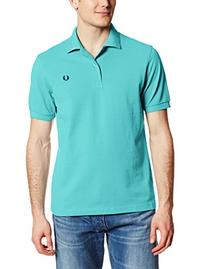 Fred Perry Men's Plain Polo Shirt, Capri Blue/Astral, Small