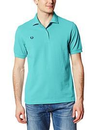 Fred Perry Men's Plain Polo Shirt, Capri Blue/Astral, Small