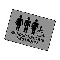 ComplianceSigns Plastic ADA Gender Neutral Restroom Sign, 10