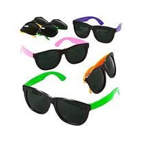 Adorox Set of 12 Plastic Assorted Neon Sunglasses Children's