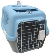 YML Medium Plastic Carrier Crate for Small Animals, Blue