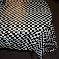 "Plastic Checkered Tablecover,54"" x 108"