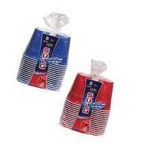 Solo Plastic Cup 18 Oz Mixed Red & Blue