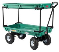 Plastic Double Deck Wagon, 20-Inch by 38-Inch, Green