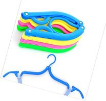 6d Pack of 4  Plastic Foldable Travel Clothes Hanger with