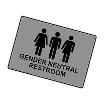 ComplianceSigns Plastic Gender Neutral Restroom Sign, 10 X 7
