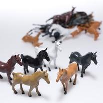 Fun Express Vinyl Plastic Horses Toy - 12 Pieces