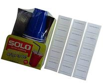 Solo 9 Oz Plastic Cup, Lid, & Straw Combo Pack, 15 Cups +