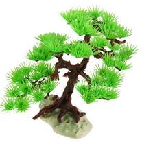 Jardin Plastic Pine Tree Plant Ornament for Aquarium, 7.1-