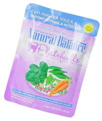 Natural Balance 3-Ounce Platefulls Cod, Chicken, Sole and