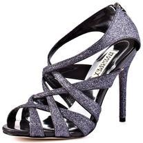Badgley Mischka Platinum Women's Junebug Sandal, Charcoal, 6