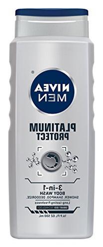 Nivea for Men Platinum Protect Body Wash 3 in 1 - Ocean
