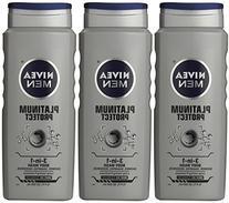 Nivea For Men Platinum Protect Body Wash, Deodorizing, Ocean