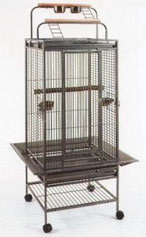 2 Color, New Large Play Top Bird Cage Parrot Finch Macaw
