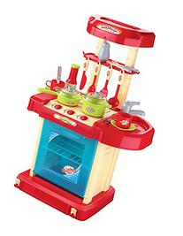 Berry Toys Play and Carry Plastic Play Kitchen, Red