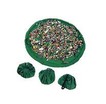 BHY Baby Kids Play Floor Mat Toy Storage Bag Organizer
